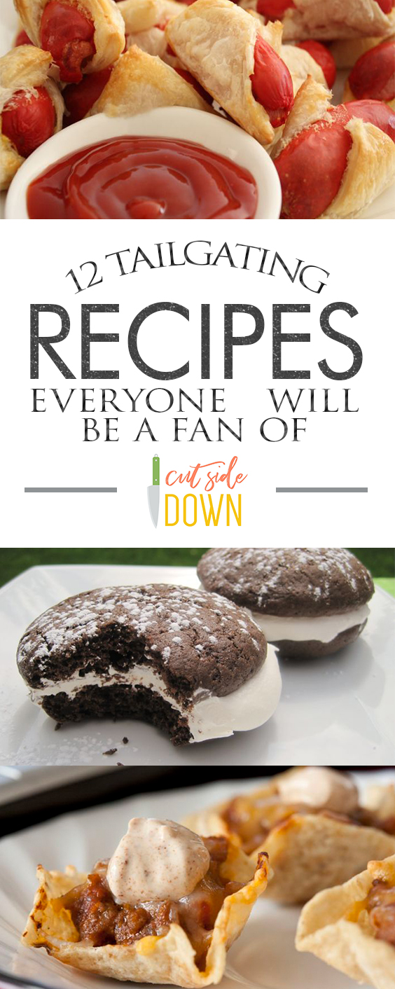 12 Tailgating Recipes Everyone Will Be A Fan Of - Cut Side Down| Tailgating Recipes, Tailgating Recipes Easy, Tailgate Food, Tailgating Food, Tailgate Food Easy, Food, Easy Food, Easy Recipes