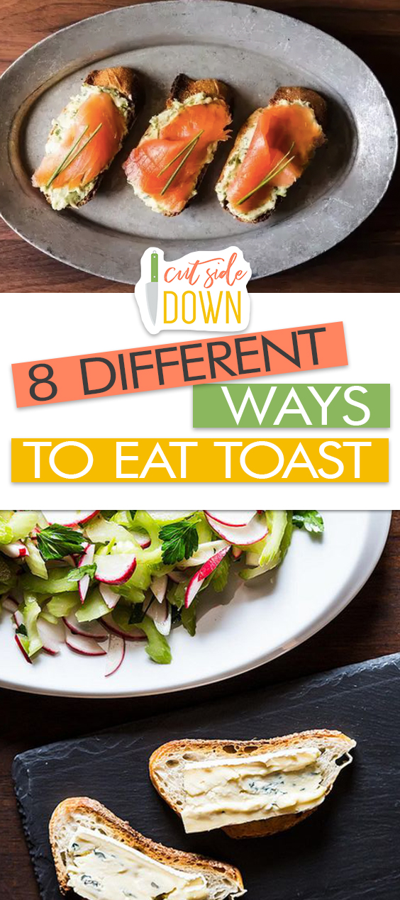 8 DIFFERENT Ways to Eat Toast - Cut Side Down| Toast Recipes, Toast Recipe Healthy , Toast Recipe Breakfast, Easy Recipes, Simple Recipes, Simple Breakfast Recipes