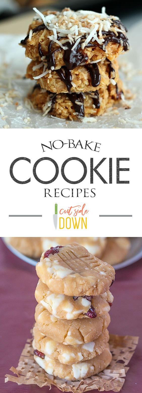 No-Bake Cookie Recipes - Cut Side Down | No Bake, No Bake Recipes, No Bake Cookie Recipes, No Bake Desserts, No Bake Dessert Recipes, No Bake Recipes for Kids