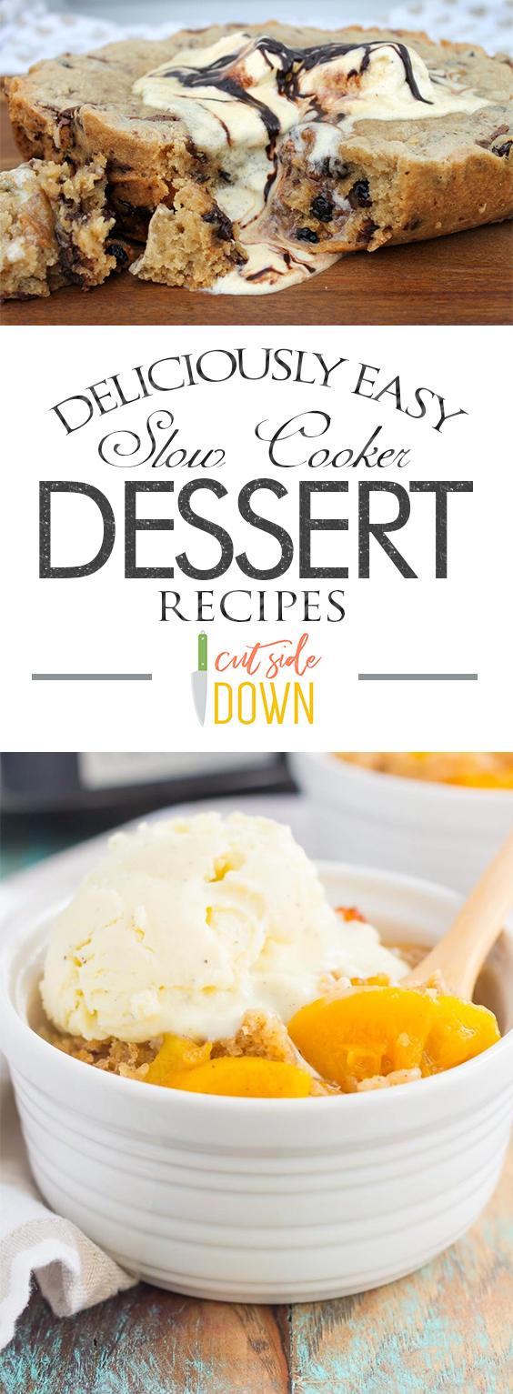 Deliciously Easy Slow Cooker Dessert Recipes|  Slow Cooker Recipes, Slow Cooker Recipes Easy, Slow Cooker Dessert Recipes, Desserts Easy, Dessert Recipes Easy, Slow Cooker Recipes