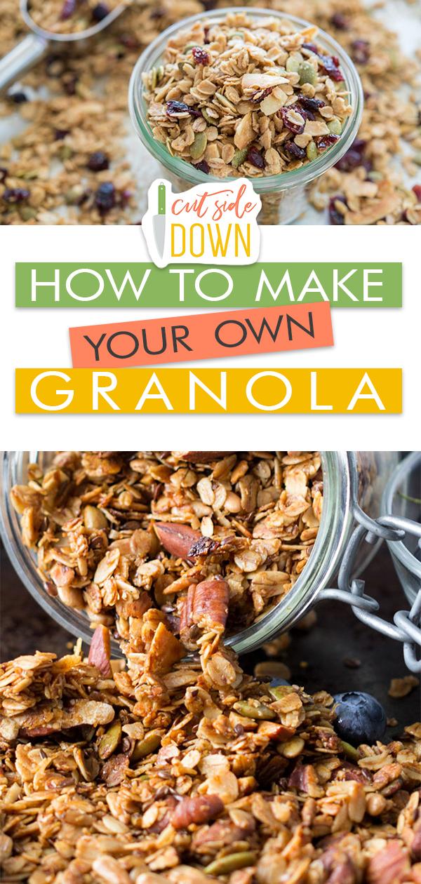 How to Make Your Own Granola! | Granola Recipe, Granola Recipe Homemade, Granola Recipe Easy, Granola Recipe Bars, Granola Recipe Breakfast