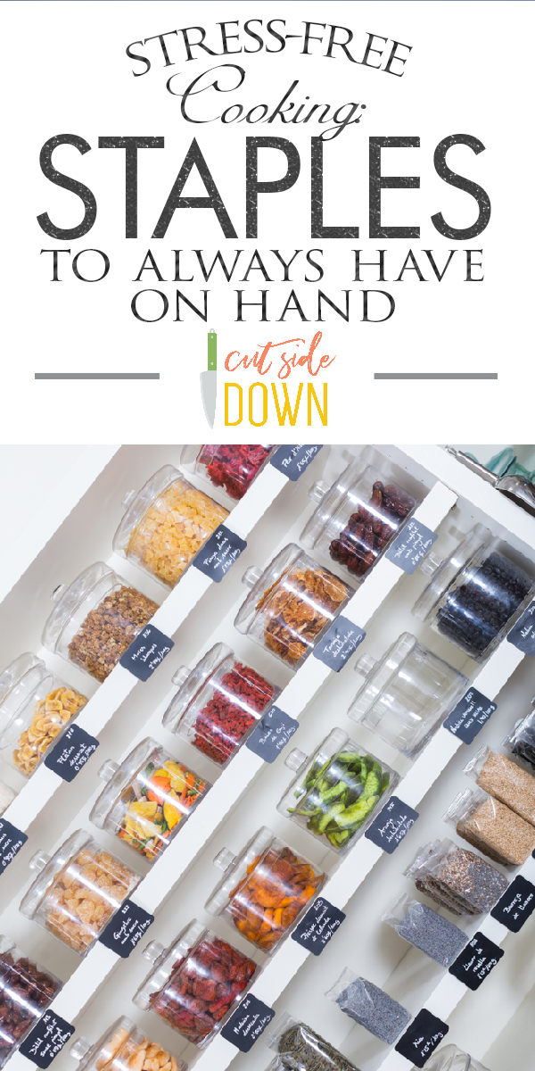 staples | kitchen staples | kitchen staples you should always have | baking | oils | vinegar | canned goods | condiments | kitchen must haves | dry storage