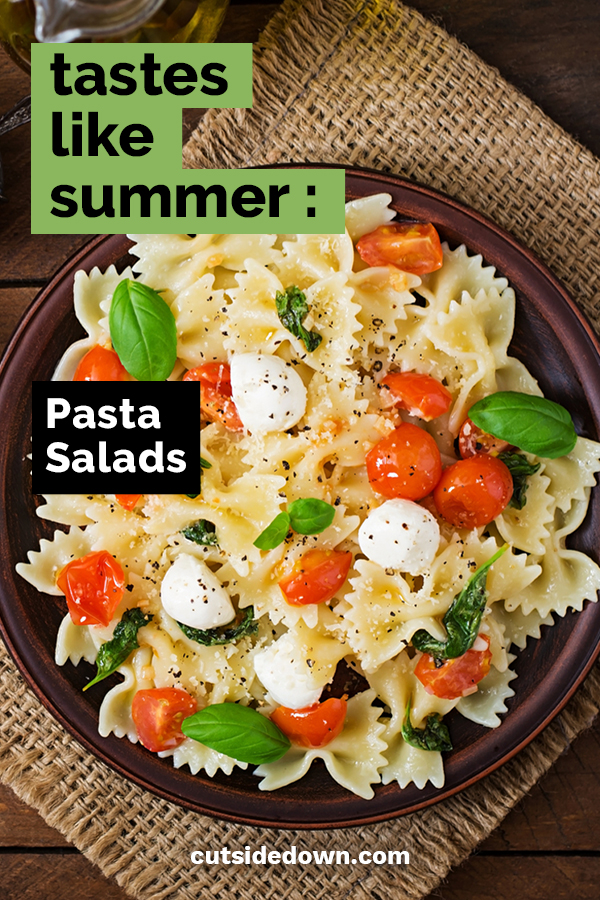 I love food. I love Summer. But I don't like to eat a lot of food when it is hot. Something light is more my style. These pasta salad recipes are just perfect for a summer meal. Read the post for some seasonal pasta salad ideas. #summerrecipes #pastasalad #summerpastasalad