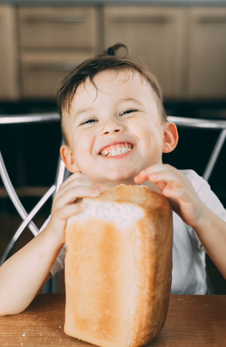 Butter bread takes your average white bread recipe up a notch or two. It has a beautifully crispy crust and deep flavor. This bread will keep your kids smiling all day long.