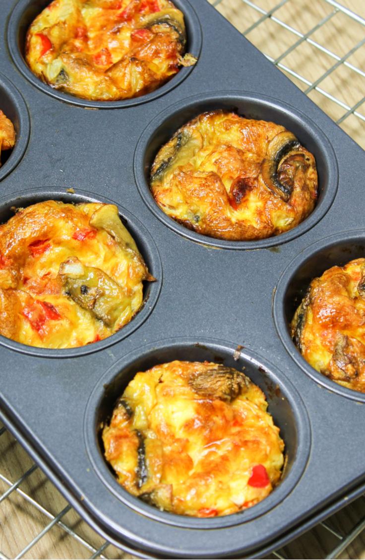 omelette muffins | breakfast | recipes | breakfast recipes | breakfast on the go | easy breakfast ideas