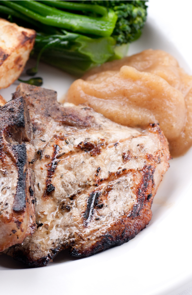 pork chops and applesauce | pork chops | applesauce | recipes | fall | fall recipes | pork chop recipe