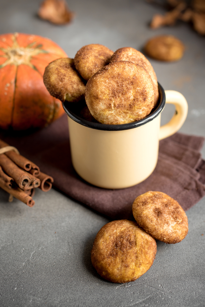 Pumpkin cheesecake snickerdoodles are the perfect Thanksgiving dessert. For more Thanksgiving desserts that aren't pie, look here!