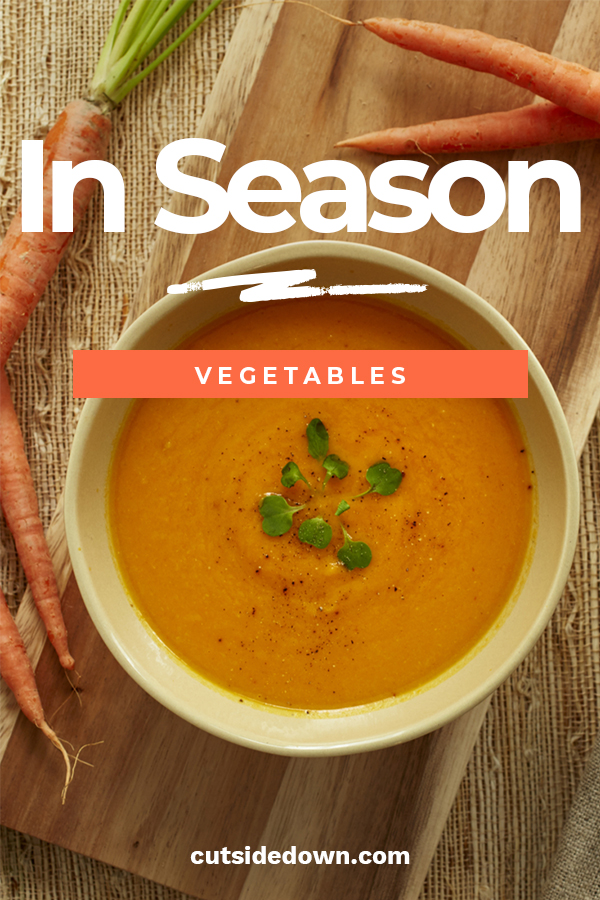 I always like to cook vegetables that are in season. So today we are talking about winter vegetables. We have ideas for how to prepare them with different recipe ideas. Learn more about what vegetables are in season with our In Season Vegetables series. Makes me hungry just thinking about it. #inseasonvegetables #wintervegetables #wintervegetablerecipes