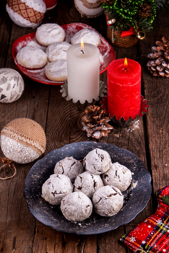 Russian tea cakes are delicious and quite festive which allows them to fall under the category of dairy free Christmas cookies. For more ideas on dairy free Christmas cookies, look here!