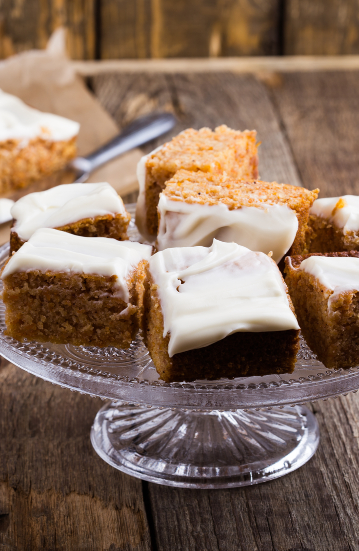 I can be hard to find Christmas desserts that are gluten free but this gluten free pumpkin cake is delicious! For more gluten free Christmas desserts, look here!