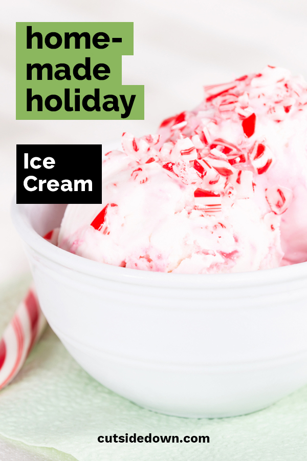 What would the holidays be without a little ice cream? That's right, they wouldn't be the holidays. Cut Side Down wants your holidays to be extra special. We have some festively delicious homemade holiday ice cream flavors that you can't resist. These recipes are easy to follow and will be sure to please even scrooge. #homemadeholidayicecream #holidayflavoredicecream #homemadeicecreamrecipes