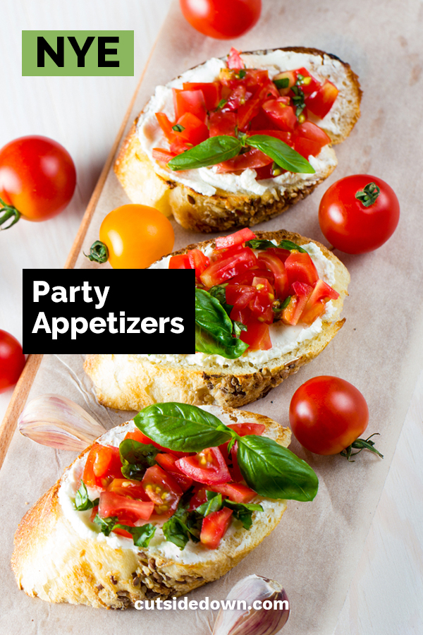 Everybody loves parties, but it wouldn't be a party without food. And, what would a party be without appetizers? To make your New Year's Eve party a success, you need appetizers that everyone will love. Cut Side Down has crowd pleasing appetizers that are delicious and easy to make. For more recipe info, keep reading. Happy New Year! #NYEappetizers #NYEpartyrecipes