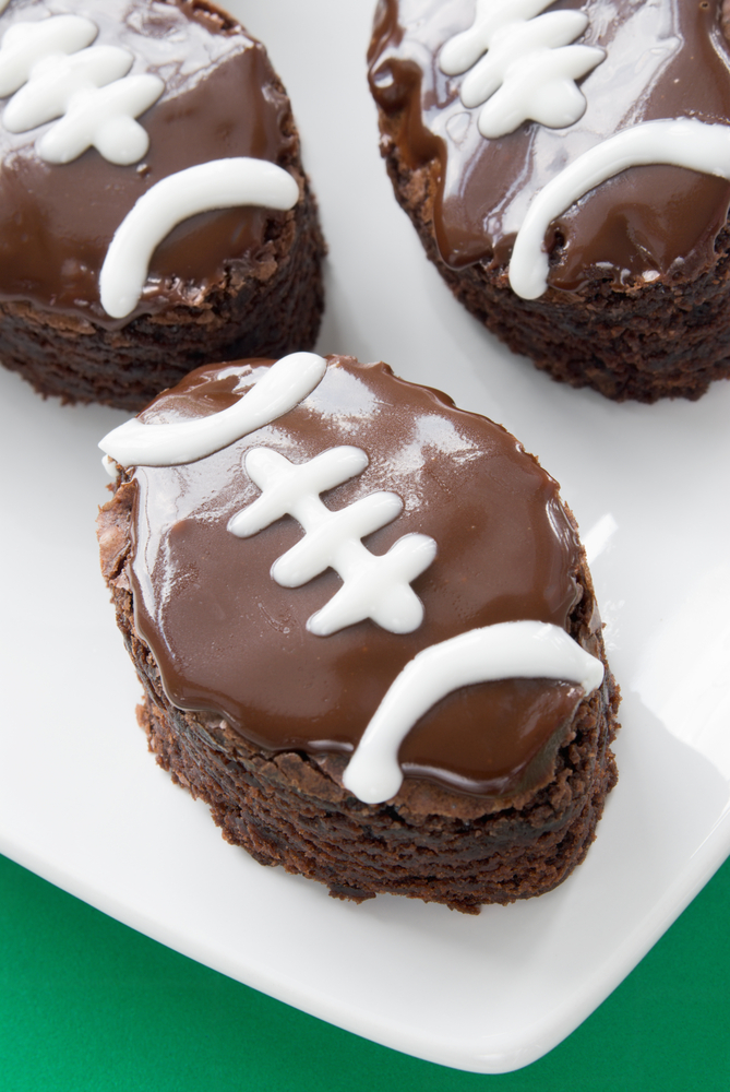 If you're having a group of people over to watch the big football game, then you need to know these football party foods. These double chocolate football brownies are amazing!