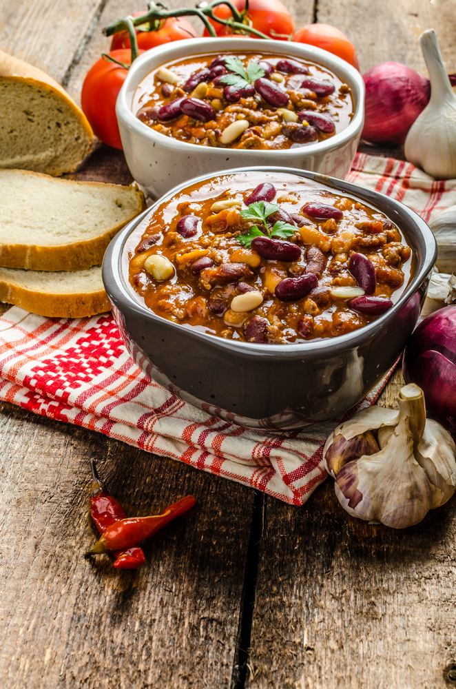 If you're having a group of people over to watch the big football game, then you need to know these football party foods. This slow cooker chili will be the hit of the party.