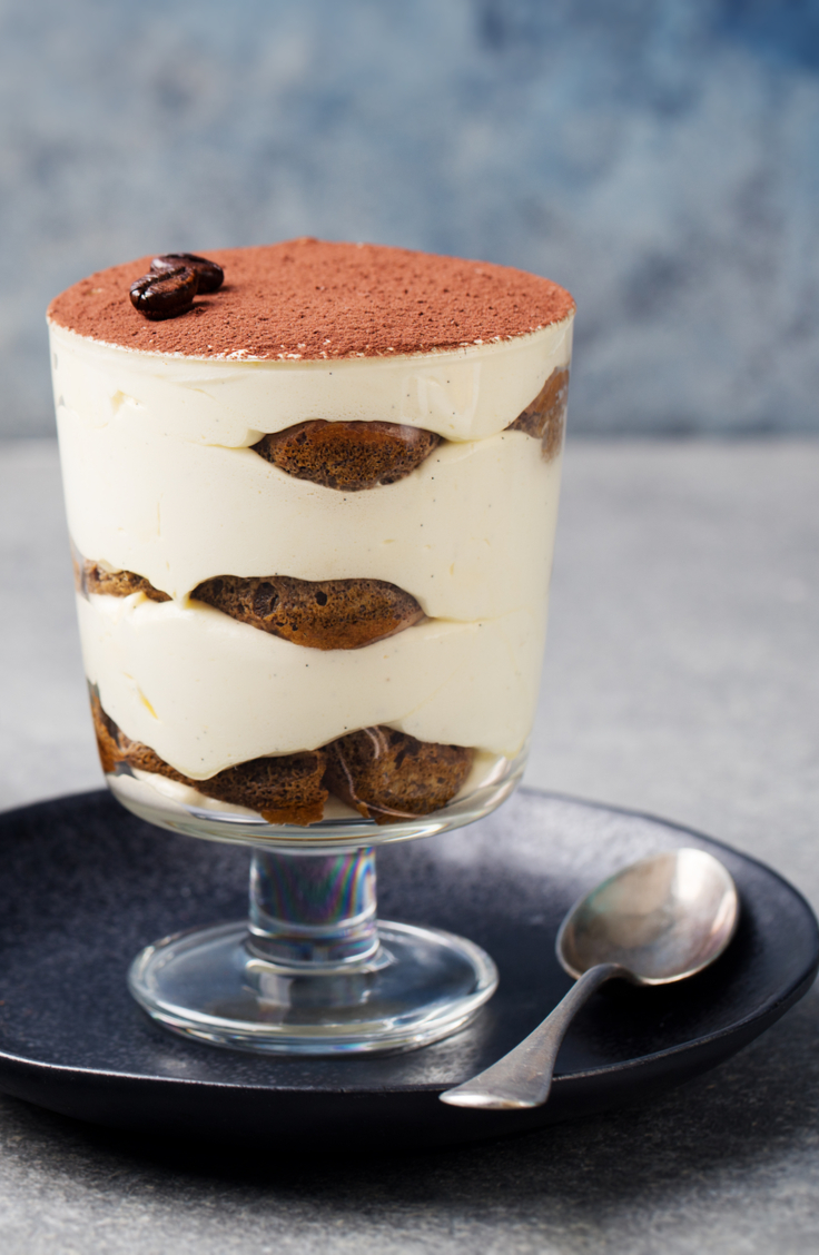 Tisamisu is one of the most classic holiday desserts. This coffee-flavored dessert is pretty low in calories so you won't feel too guilty about eating it.