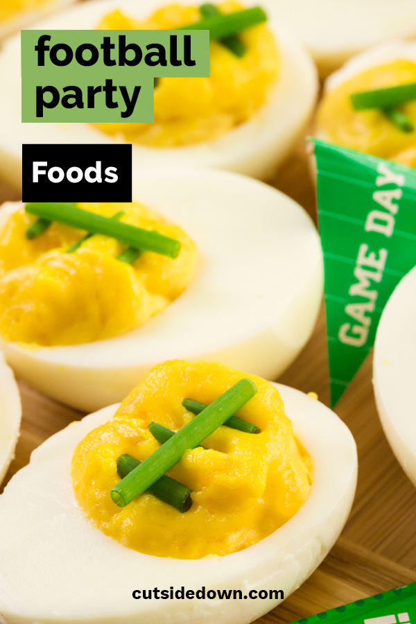 A football party is only a football party with great food. Cut Side Down is sharing our five all-time favorite football party foods. These are guaranteed to make your party a success no matter which team wins. To learn more, keep reading for easy to follow recipes. Go, Team! #footballpartyfood #recipesforafootballparty