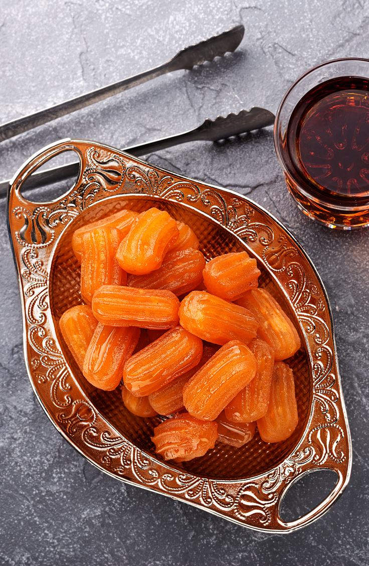 Macedonian food is a mixture between Mediterranian and Greek cuisine. Essentially there is a focus on fresh food paired with fresh grains and fresh meat. Tulumba is a traditional Macedonian dessert that is so delicious! For more Macedonian recipes, look here!