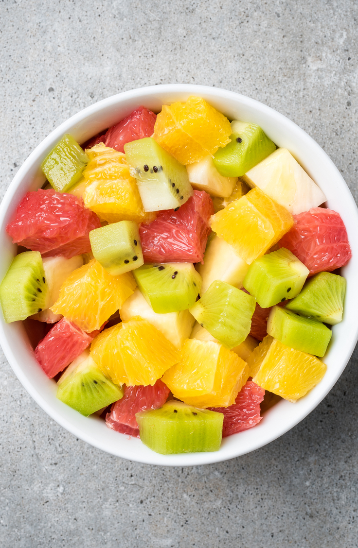 Macedonian food is a mixture between Mediterranian and Greek cuisine. Essentially there is a focus on fresh food paired with fresh grains and fresh meat. Macedonian fruit salad is a staple for your meal. For more Macedonian recipes, look here.