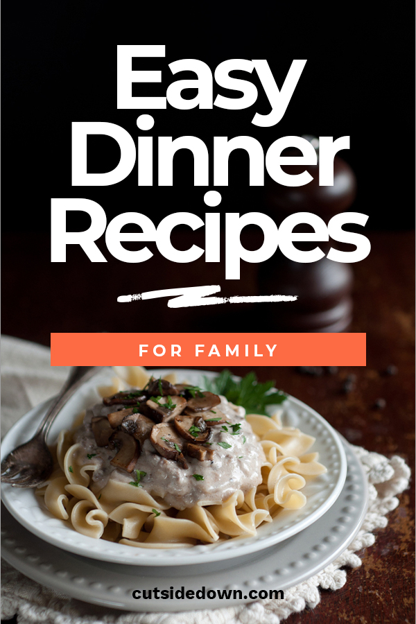 Work, shopping, errands, kids' activities.... We get it! You're BUSY! But, hey, eating from the golden arches too many times will get your family looking like them all too soon! Check out these easy but HEALTHY dinner recipes for your family! #dinnerrecipe #easydinner #familymeal