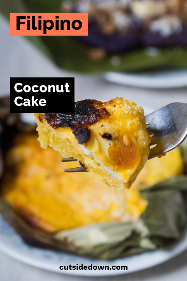 If you love coconut, we have a dessert you have to try. It's called Bibingka. This Filipino cake is rich, moist and delicious. Find the recipe by reading the post. It's easy to make and will easily become a family favorite. #dessertrecipes #cakerecipes #bibingka #coconutcake