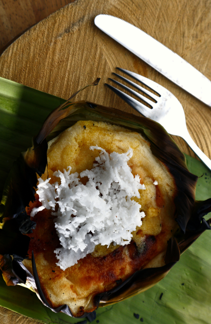 As we adventure through the world's cuisine, let's stop and look at a dish called Bibingka. It's a unique blend of savory and sweet, crispy and creamy. This dessert hails from the Philippines and is a Christmas tradition.