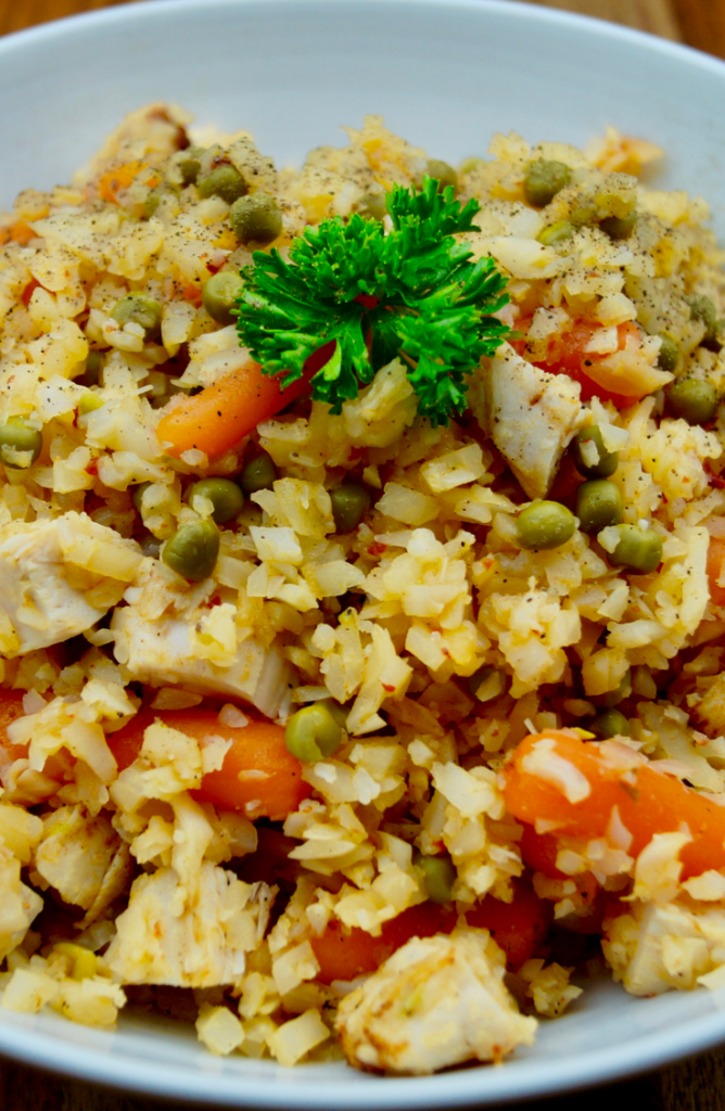 If you haven't used riced cauliflower when cooking, then you're missing out! Check out these delicious riced cauliflower recipes! This chicken cauliflower fried rice is amazing!