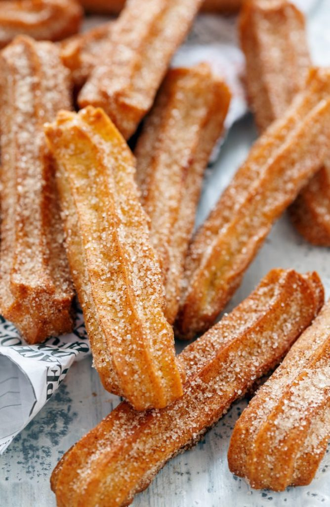 These churros are delicious and so easy to make! If you're looking for some great dessert ideas, here are five delicious Aunt Jemima dessert recipes!