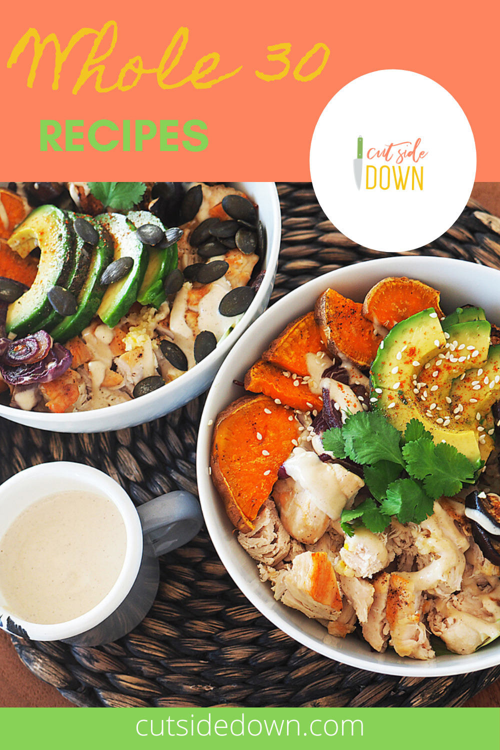 You've been living under a rock if you haven't heard about the Whole 30 diet. It's not just a fad. Many like it better than the Keto Diet. Read the post to discover some delicious whole 30 recipes. #whole30 #healthyrecipes #whole30 recipes