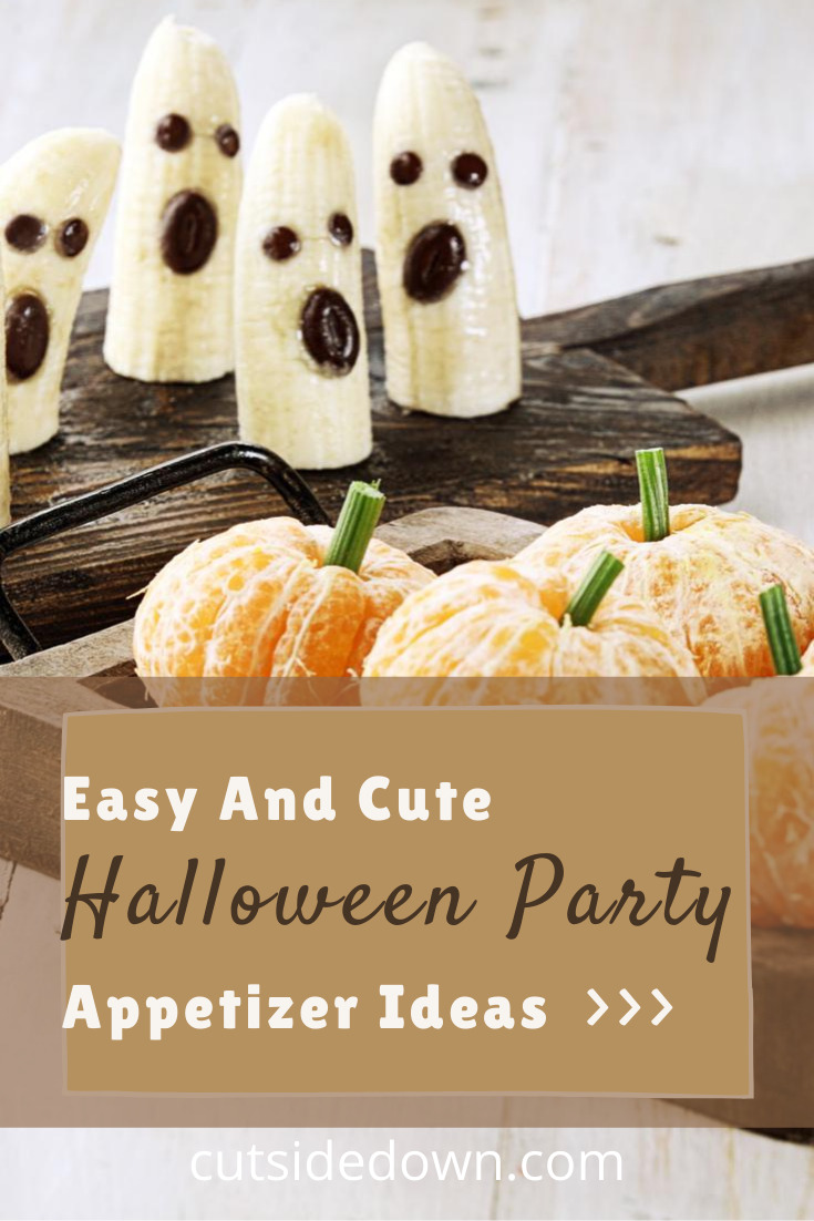 Take your Halloween party to the next level of scary with these fun Halloween party appetizers. Easy to make and easy to follow instructions make these party appetizers an easy choice for your Halloween party #halloween #partyplanning #partyappetizers #cutsidedownblog