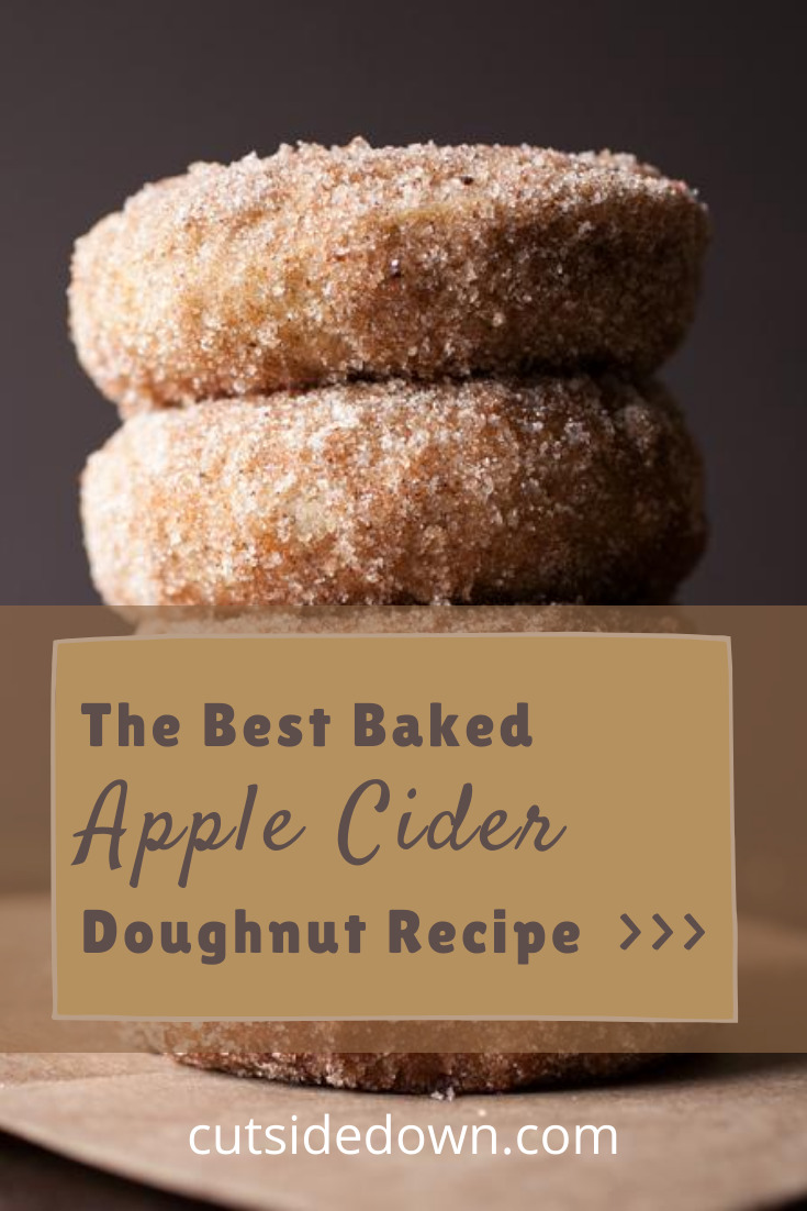 Why have cider and doughnuts when you can have apple cider doughnuts (and anything you want to drink)? You need this delicious treat recipe! It's not just for fall but makes a great fall treat. #cutsidedownblog #doughnuts #appleciderdoughnuts