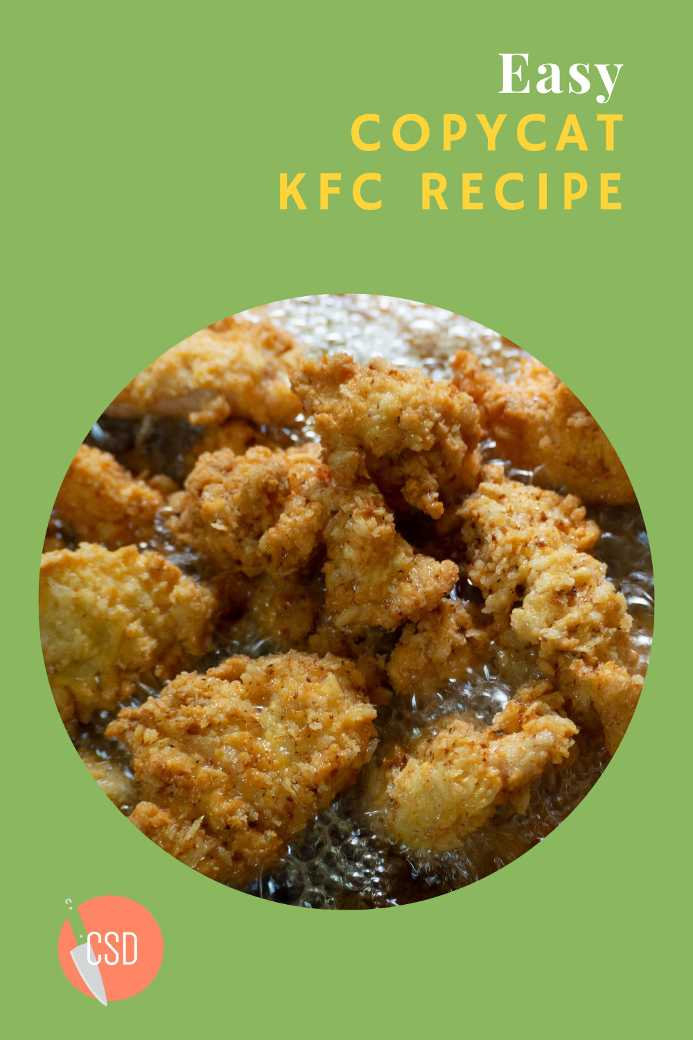 Who needs to go out for chicken when you have this KFC copycat recipe? That's right... tastes just like the finger-lickin' good stuff you can buy. Lick up... no napkins needed.