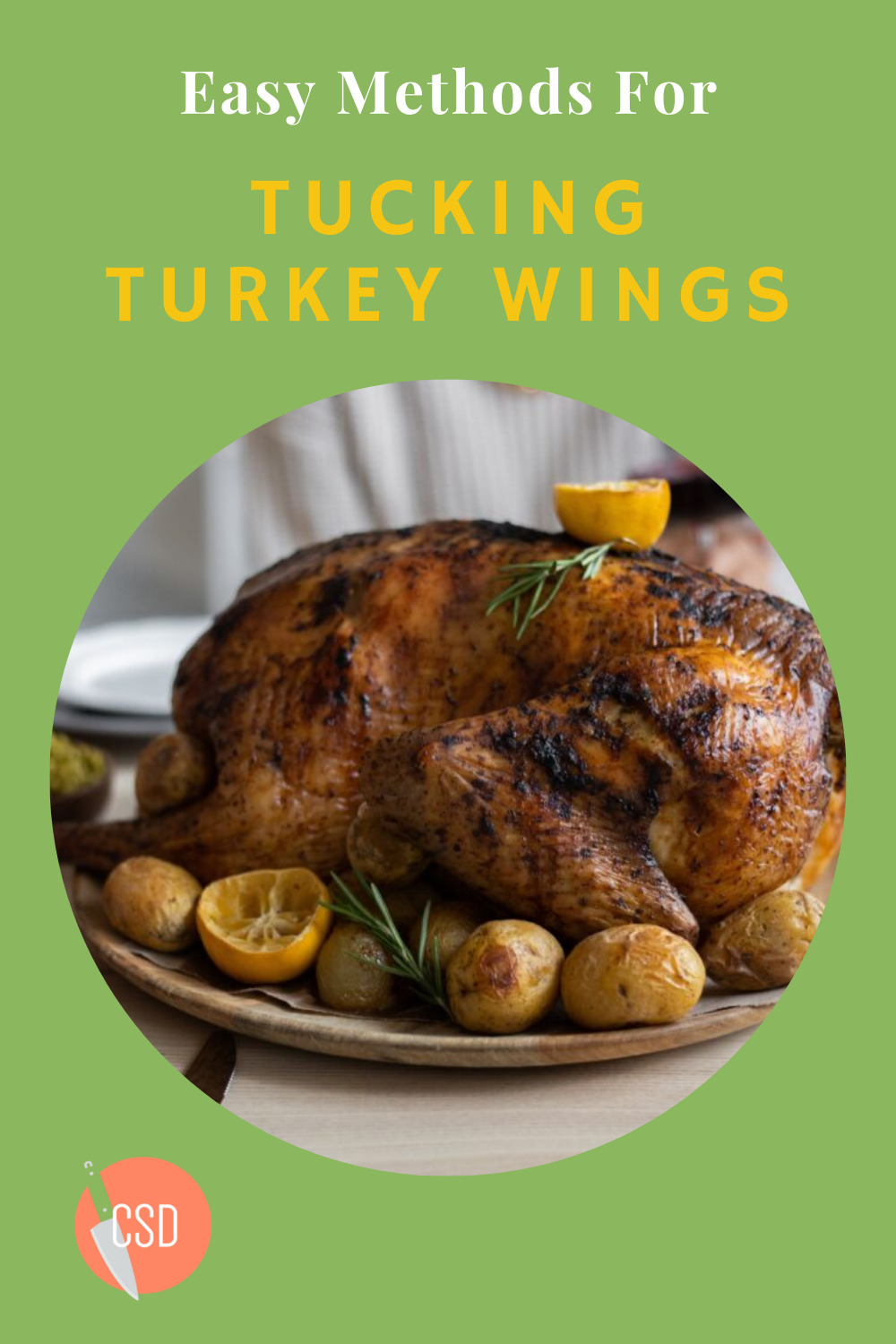 Cutsidedown.com is the best place on the internet to find your new favorite recipes! Get amazing ideas for food and drink to impress all of your friends and family. Next time you want to prepare a turkey dinner, use this easy method for tucking the wings!