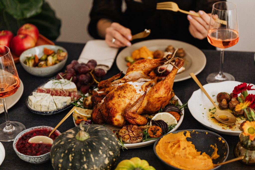 Making the most of a turkey dinner - how to tuck turkey wings