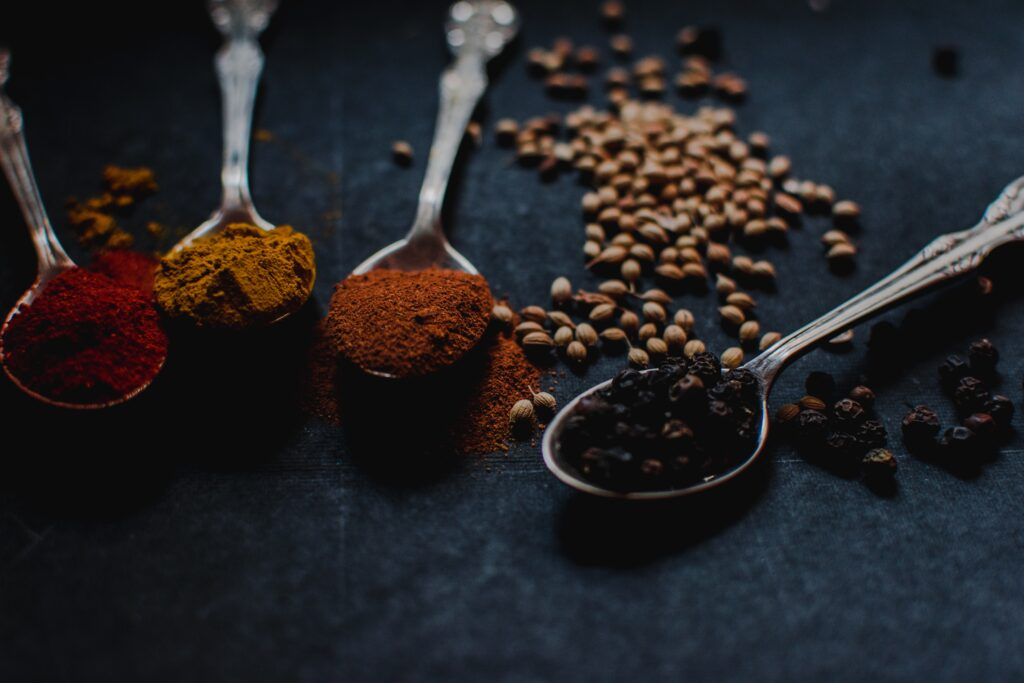 Making masala idli using spices