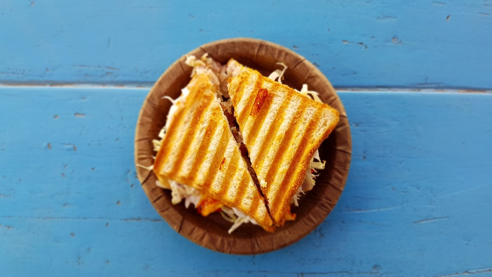 The most incredible inside out grilled cheese sandwich