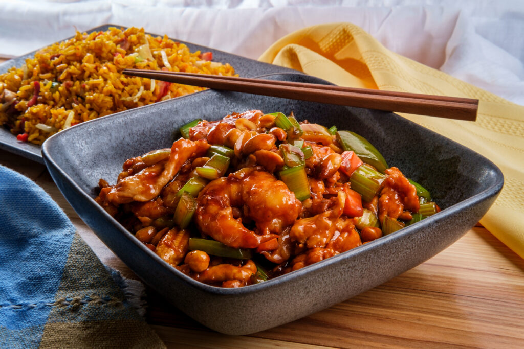 Kung Pao Pork in a bowl