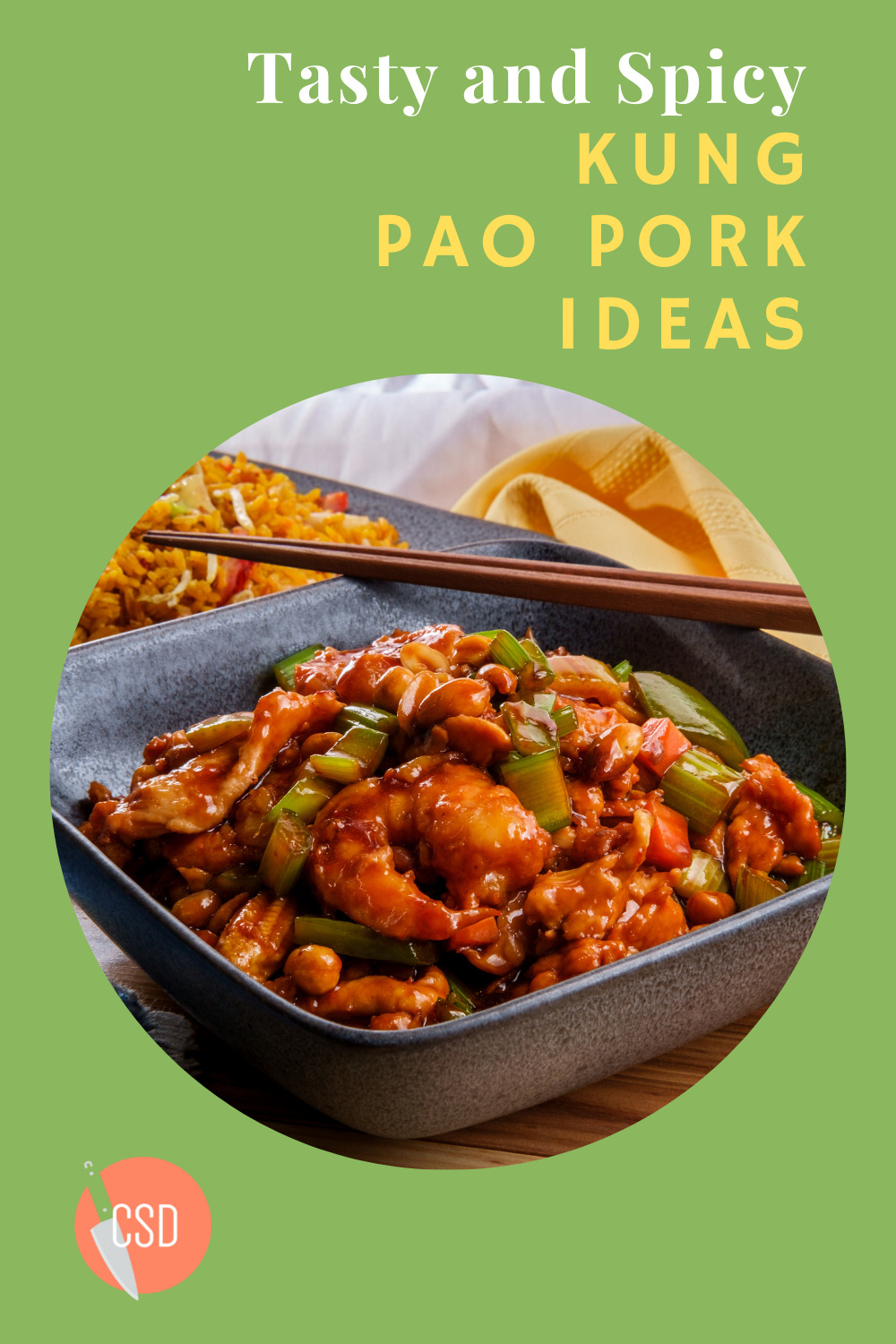 Cutsidedown.com is loaded with the best food and drink recipe ideas for any occasion. Find out what you should prepare for your next event. This Kung Pao Pork recipe will become your family's new staple.