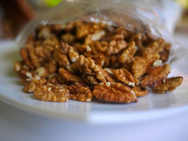 A bag of pecans