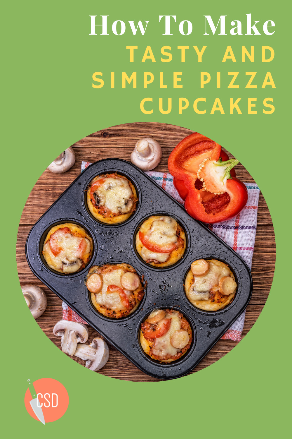 Cutsidedown.com will help you wow your dinner guests with amazing and easy recipes. Find whatever your palette desires with tons of ideas to choose from. Branch out of your comfort zone with this simple and delicious cheesy pizza cupcake recipe!